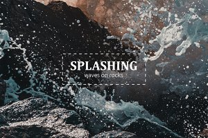 Splashing waves photo-pack