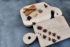 kitchen tables with spices