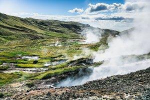 Icelandic steaming geysers