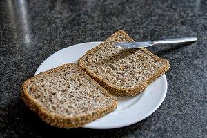 Slices of multi grain bread