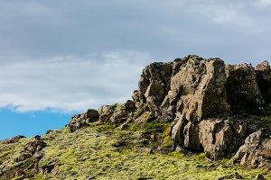 Icelandic rocky peak