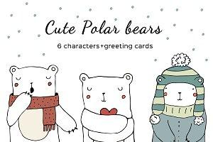 Cute Polar Bears Characters