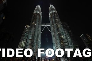 Time lapse view of Petronas Twin