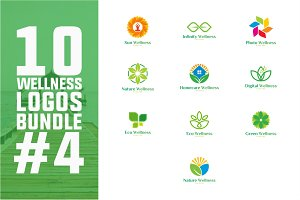 10 Wellness Logo Bundle #4