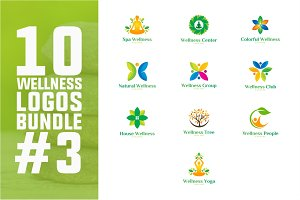 10 Wellness Logo Bundle #3