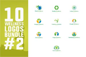 10 Wellness Logo Bundle #2
