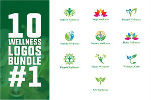 10 Wellness Logo Bundle #1