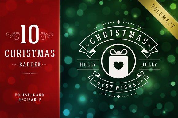 10 christmas logos and badges logos - Christmas Logos