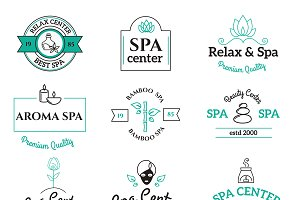 Spa beauty and body care vector logo