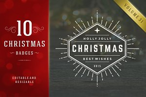 10 Christmas Logos and Badges