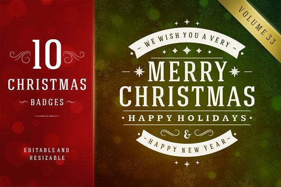 10 christmas logos and badges logos - Merry Christmas Logos