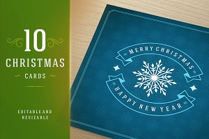10 Christmas greeting cards