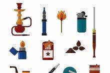 Smoking vector icons