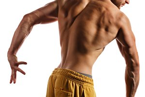 Bodybuilder Posing. Muscles
