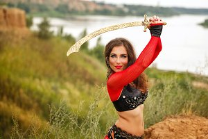 Dance with a sword. Tribal style