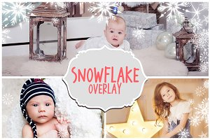 Photoshop Snowflakes Overlays