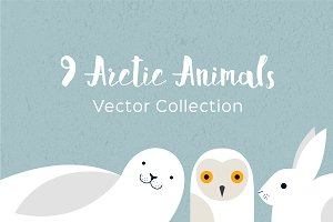 Arctic Animals Vector Collection