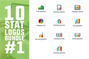 10 Business Statistic Logo Bundle #1