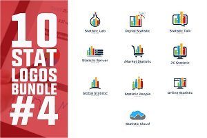 10 Business Statistic Logo Bundle #4