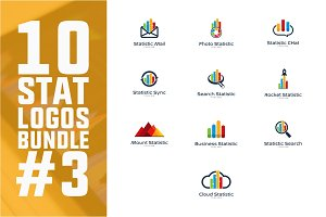 10 Business Statistic Logo Bundle #3