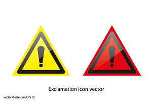 Exclamation icon vector