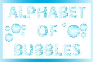 Letters soap bubbles