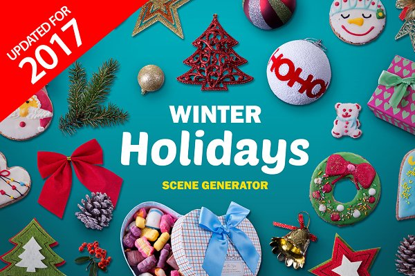 Winter Holidays scene generator V.2