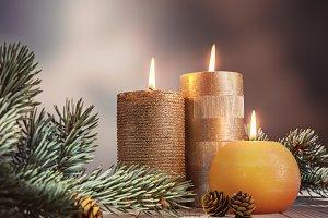 Christmas festive evening.