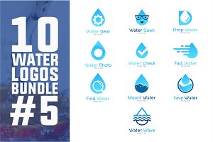 10 Water Logo Bundle #5
