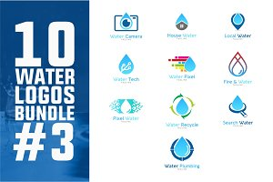 10 Water Logo Bundle #3