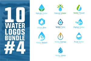 10 Water Logo Bundle #4