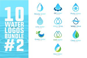 10 Water Logo Bundle #2