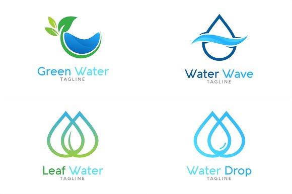 10 water logo bundle 2 logo templates creative market