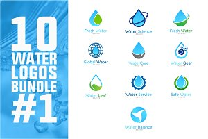 10 Water Logo Bundle #1