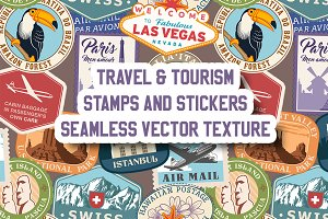 Travel Seamless Vector Texture