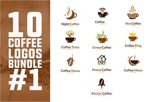 10 Coffee Logo Bundle #1