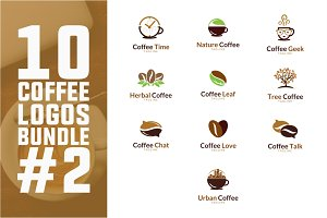 10 Coffee Logo Bundle #2