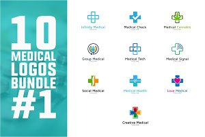 10 Medical Logo Bundle #1