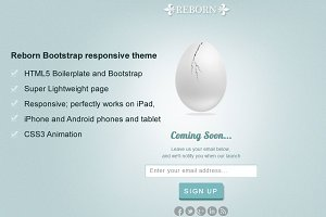 Reborn -Responsive Coming Soon Page
