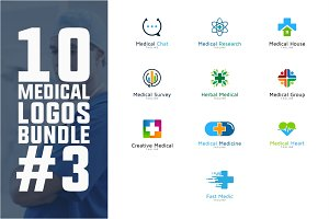 10 Medical Logo Bundle #3