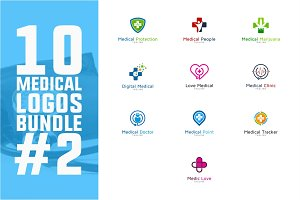 10 Medical Logo Bundle #2