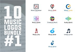 10 Music Logo Bundle #1