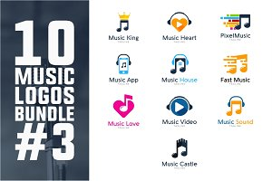 10 Music Logo Bundle #3