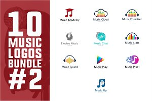 10 Music Logo Bundle #2