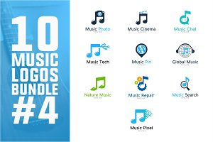 10 Music Logo Bundle #4
