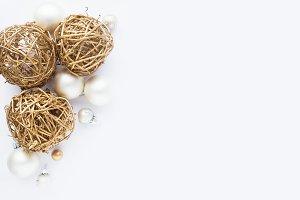 Christmas backgound on white