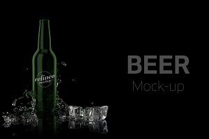 Beer Bottle Label Mock-up#22