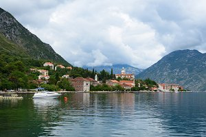 Town Prcanj in Bay of Kotor