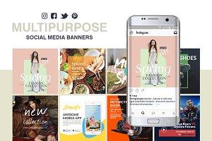 Multipurpose Social Media Banners
