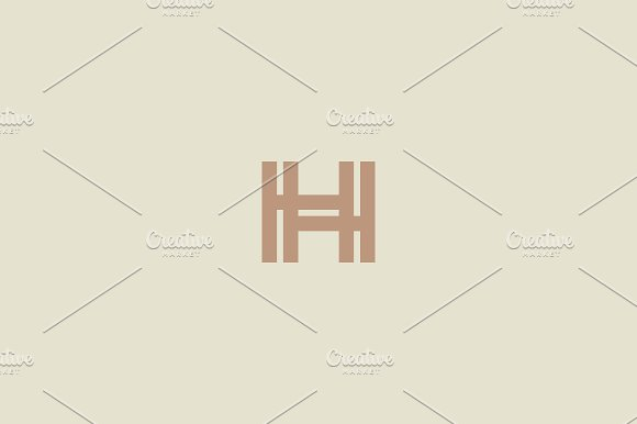 Abstract letter H linear logo
